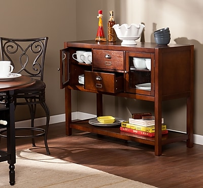 Southern Enterprises Gomez Medium Density Fiberboard Console Table, Espresso, Each (CM2315)