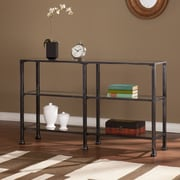Southern Enterprises Metal/Glass Glass Console Table, Black, Each (CM8771)