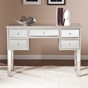 Southern Enterprises Mirage Medium Density Fiberboard Console Table, Silver, Each (CM9157)
