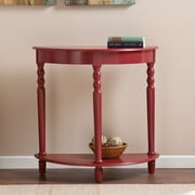 Southern Enterprises Tyra Demilune Table, Red (CM9177)