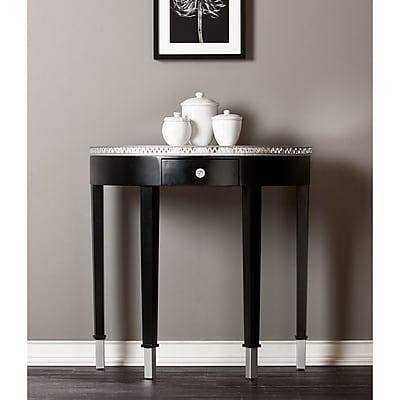 Southern Enterprises Starling Medium Density Fiberboard Accent Table, Black, Each (CM9178)