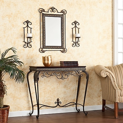 Southern Enterprises Capshaw Steel Console Table, Bronze, Each (CM9790)