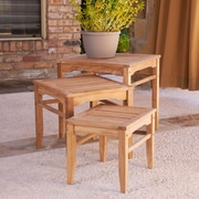 Southern Enterprises Teak Nesting Table, 3 Pieces/Set (CR1210)