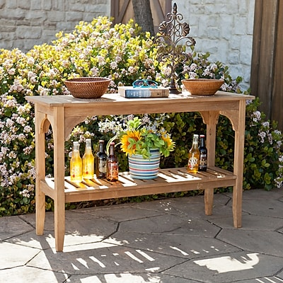 Southern Enterprises Kaden Teak Console Table (CR1265)