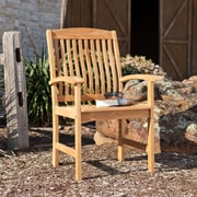 Southern Enterprises Waverly Teak Arm Chair, 2 Pieces/Set (CR5609)