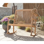 Southern Enterprises Rockfort Teak Double Rocker (CR6713)