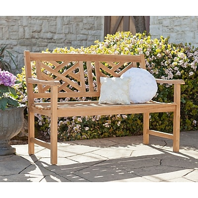 Southern Enterprises Russell 4' Teak Chippendale Bench (CR6973)