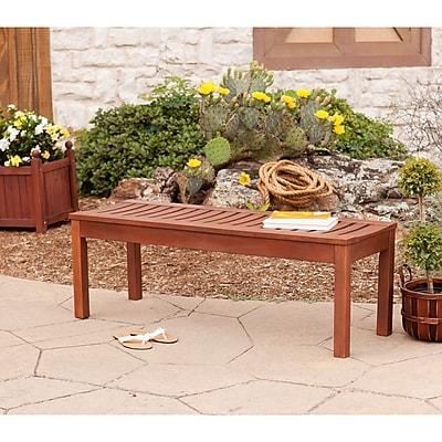 Southern Enterprises Rhea 4' Hardwood Backless Bench (CR7705)