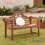 Southern Enterprises 4' Lutyens Hardwood Bench (CR7709)