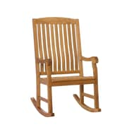 Southern Enterprises Teak Porch Rocker, Unstained (CR7803)