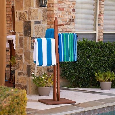 Southern Enterprises Hardwood Towel Rack, Oiled Finish (CR8901)
