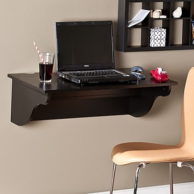 Southern Enterprises Barrie Wall Mount Desk Ledge, Black (HO8307)