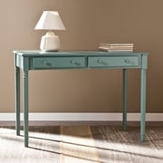 Southern Enterprises Janice 2-Drawer Writing Desk, Agate Green (HO8797)