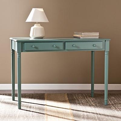Southern Enterprises Janice 2-Drawer Writing Desk, Agate Green (HO8797)