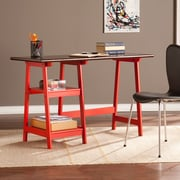 Southern Enterprises Langston Desk, Red/Espresso (HO9346)