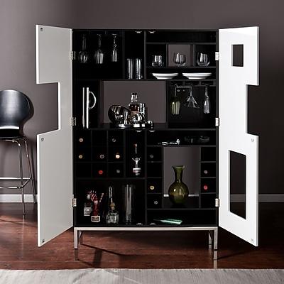 Southern Enterprises Shadowbox Wine/Bar Cabinet (HZ1032)