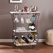 Southern Enterprises Arcino Metal Carts Table, Gray, Each (HZ2054)
