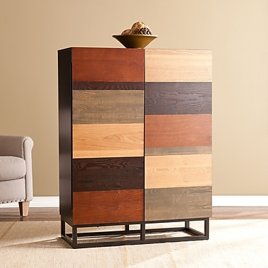 Southern Enterprises Harvey Bar Cabinet, Multi-Tonal (HZ2347)