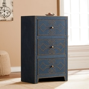 Southern Enterprises Florian 3-Drawer Cabinet, Navy (HZ5924)