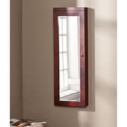 Southern Enterprises Stanfield Lighted Jewelry Mirror, Cherry (JS8596)