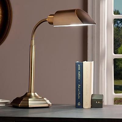 Southern Enterprises OttLite Alton Task Table Lamp, Honey Brass (LT6111)