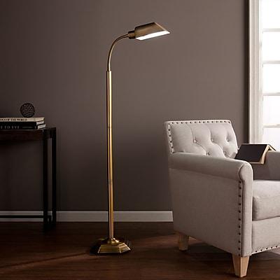 Southern Enterprises OttLite Alton Task Floor Lamp, Honey Brass (LT6112)