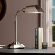 Southern Enterprises OttLite Alton Task Table Lamp, Brushed Nickel (LT6121)