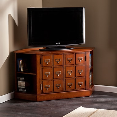 Southern Enterprises Corner Apothecary TV/Media Stand (MS9946)