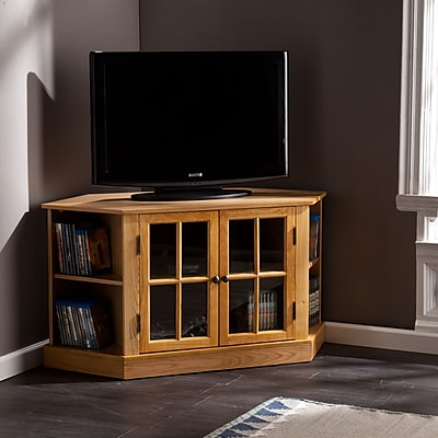 Southern Enterprises Thomas Corner TV/Media Stand, Natural Oak (MS9972)