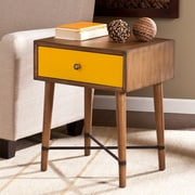 Southern Enterprises Norwich Wood Accent Table, Yellow, Each (OC0315)