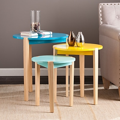 Southern Enterprises Quinby Wood Sets Table, Multicolor, Each (OC3435)