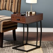 Southern Enterprises Porten Metal Side Table, Walnut, Each (OC9027)