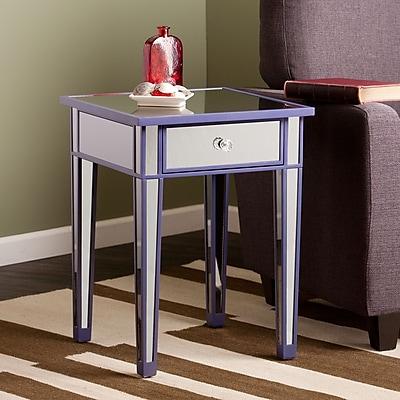 Southern Enterprises Mirage Glass Accent Table, Purple, Each (OC9469)