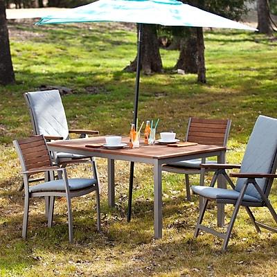 Southern Enterprises Mandalay Outdoor Rectangular Table, Gray (OD2610)