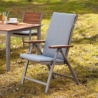 Southern Enterprises Mandalay Outdoor Position Chairs, Gray, 2-Piece Set (OD2612)