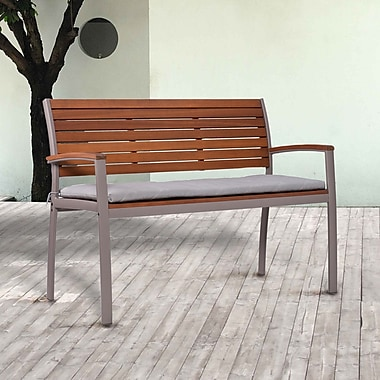 Southern Enterprises Mandalay Outdoor Bench, Gray (OD2614)