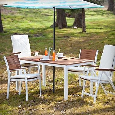 Southern Enterprises Mandalay Outdoor Rectangular Table, Soft White (OD2710)