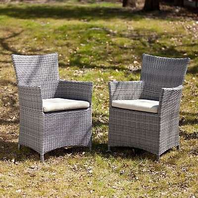 Southern Enterprises Bristow Outdoor Easy Chairs, 2 Pieces/Set (OD7744)