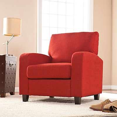Southern Enterprises Kennedale Arm Chair, Cherry Red (UP9112)