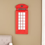 Southern Enterprises Edmond Phone Booth Decorative Wall Mirror (WS0502)