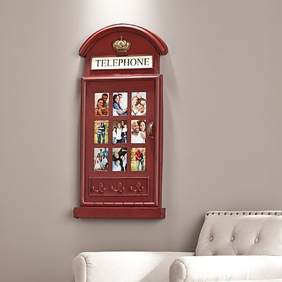 Southern Enterprises Edmond Phone Booth Wall-Mount Photo Frame (WS2071)
