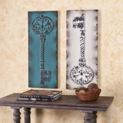 "Southern Enterprises Key Decorative 31"" Wall Panel. 2 Pieces/Set (WS9013)"