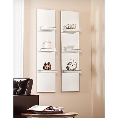Southern Enterprises Mirrored Wall Shelf, 2 Pieces/Set (WS9062)