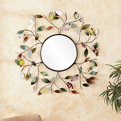 Southern Enterprises Decorative Metallic Leaf Wall Mirror (WS9811)
