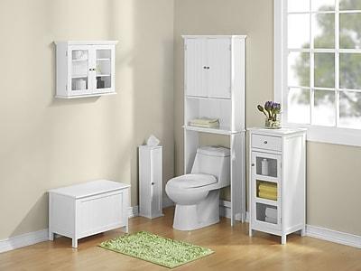 Jenlea Bathroom Space Saver 24.5'' W x 62.5'' H Over the Toilet Storage