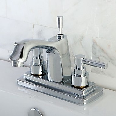 Kingston Brass Elinvar Double Handle Centerset Bathroom Faucet w/ Brass Pop-Up Drain