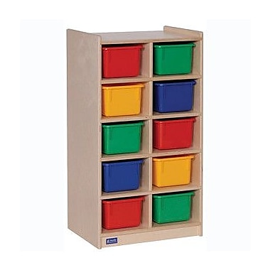 Steffy 10 Compartment Cubby wtih Casters; Multi-Color