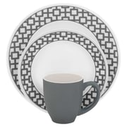 Corelle Impressions Urban Grid 16 Piece Dinnerware Set, Service for 4