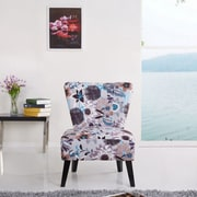 Container Cora Patterned Fabric Slipper Chair