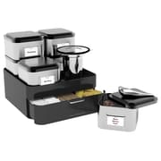 Mind Reader 'Lucy' 10 Piece Loose Leaf Tea Organizer, Silver/ Blk
